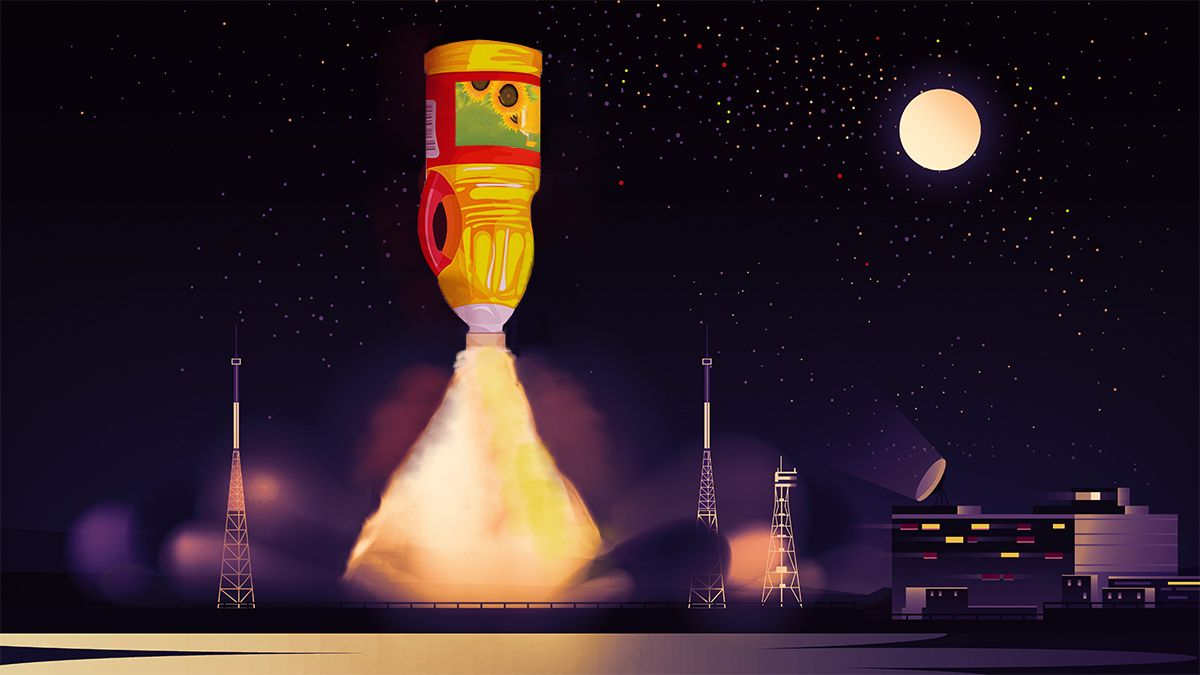 Edible Oil to the Moon